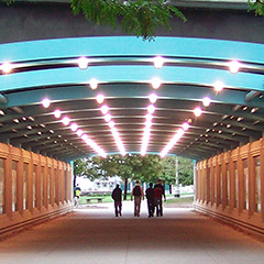 Chicago Riverwalk Lighted Tunnel