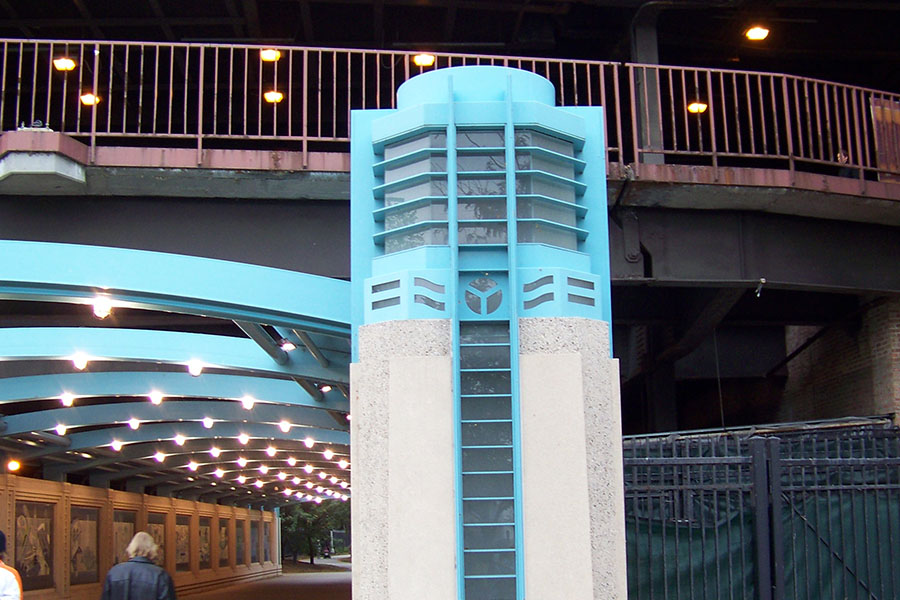 Duroweld_ProjectImages_CHICAGO RIVERWALK & LAKE SHORE DRIVE LIGHTED ARCHWAY STRUCTURES2_900x600