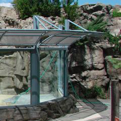 Brookfield Zoo Outdoor Aluminum And Fabric Canopy