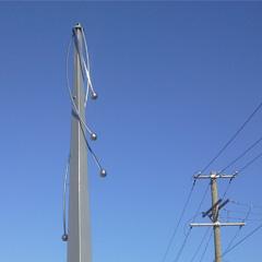Streetscape Obelisks and Pole