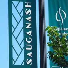 Sauganash Pole Mounted Banner